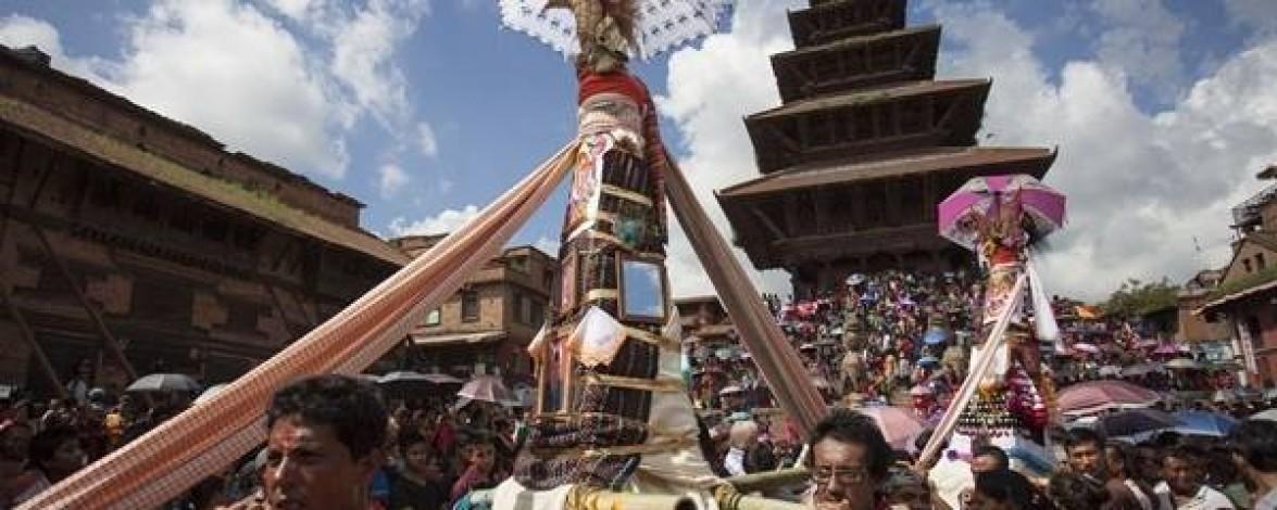 Gaijatra Festival in Nepal (8th August 2017)